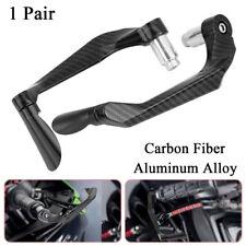 1 Pair Carbon Fiber Aluminum Motorcycle Brake Clutch Levers Protection Universal