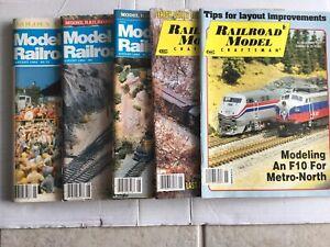 Lot Of 5 Vintage Model Railroader And Railroad Model Craftsman Magazine HO Scale