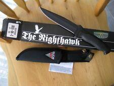 NOS VINTAGE Buck 650 BK Nighthawk Black Oxidized Blade Knife & SHEATH IN BOX