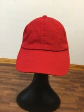 ETHOS Red Baseball Cap StrapBack 100% Cotton One Size