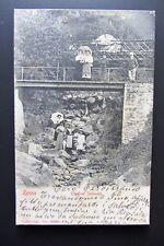 Cartolina viaggiata animata 1904 ZENNA Confine Svizzero