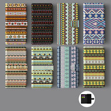 AZTEC ETHNIC TREND TRIBAL LEATHER WALLET PHONE CASE FOR IPHONE
