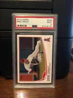 2013 Topps Mike Trout Angels AL Defensive POY Baseball Card #536 PSA 9 Mint