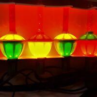 Vintage 1990's Christmas Bubble Lights Set With Box  Multi-Color NIB C7 Working