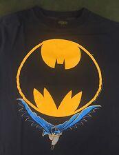 Vintage Mens 1988 Deadstock Batman DC Comics Dark Knight Black Graphic T-Shirt