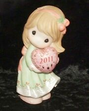 "Precious Moments 2011 Girl Figurine ""Love is the Best Gift of All"" (111001) NEW!"