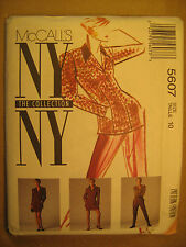 UNCUT Sewing Pattern 1992 McCall's NY SIZE 10 JACKET Pants 5607 [Z24]