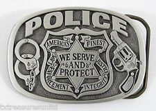 BELT BUCKLES professions metal law enforcement accessories POLICE buckle NWOT!