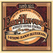 Ernie Ball 2063 Earthwood 5 String Banjo Bluegrass Strings Free Shipping 80/20