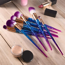 10pcs Frosted Handle Foundation Makeup Brush Set  Eyeshadow Brush Cosmetic Brush