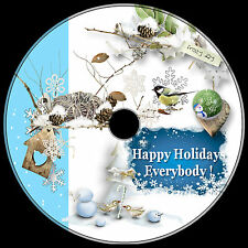 CHRISTMAS WINTER.png & vector 1000+ best clip art ROYALTY-FREE DVD