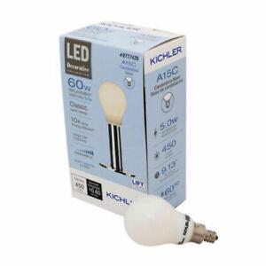 KICHLER DIMMABLE LED 5W (60W) BULB CANDELABRA BASE SOFT WHITE A15C