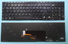 Tastatur SONY Vaio Fit 15 SVF1521A7EB SVF15N1E2ES SVF15A1M2EB Beleuchtet Backlit