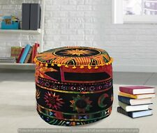Mandala Pouf Ottoman Round Indian Ottoman Poof Pouffe Hippie Cushion Cover Decor