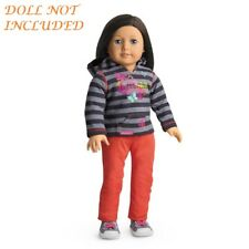 "AUTHENTIC AMERICAN GIRL 2013 STRIPED HOODIE OUTFIT FOR  18"" DOLLS (466)"