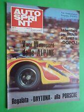 AUTOSPRINT 1971/5 Daytona Porsche 917 Ferrari 1000 km Argentina Fiat 124 Spider