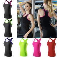 Women Quick Dry Sportswear Tank Tops Athletic Gym Yoga Running Tight Sports Vest