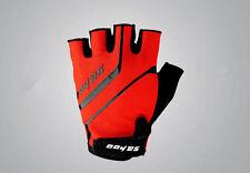 SAHOO Gel Bike Half Finger Cycling Gloves Fingerless Sport Short Gloves Black