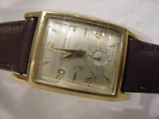 Vintage GOLD FD lg antique Art Deco BULOVA AUTOMATIC CURVEX mens watch