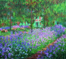 Claude Monet Gilney Gardens Poster Reproduction Paintings Giclee Canvas Print