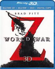 World War Z 3D (Blu-ray 3D + Blu-ray + DVD + D New Blu