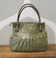 HOBO INTERNATIONAL Olive Green Leather Pleated Knotted Handle Shoulder Bag