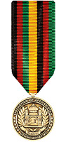Liberation Of Afghanistan Commemorative Medal Miniature