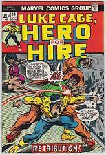 Hero For Hire #14 VF+ 8.5 Luke Cage Big Ben Billy Graham Art!