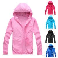 Women Men Waterproof Windproof Jacket Outdoor Quick Dry Rain Coat Lightweight