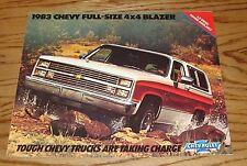Original 1983 Chevrolet Truck Full-Size 4x4 Blazer Sales Brochure 83 Chevy