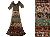 Indian Rayon Vestir Gypsy Dress Ethnic Blouse Women Ehs Retro Hippie Blusa Boho