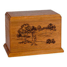 Wood Adult Cremation Urn (Wooden Urns) - Mahogany Golf