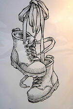 Men's Work Boots   L@@k@example Too Much Fun  rubber stamps