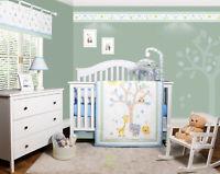 6-Piece Safari Jungle Animals Baby Boy Nursery Crib Bedding Sets By OptimaBaby