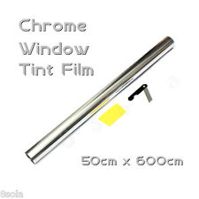 6M x 50cm Car Auto Van Chrome Silver Window Tint Film OneWay Mirror Tinting Foil