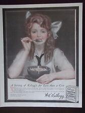 1917 Original Kellogg Toasted Corn Flakes J C Leyendecker Advertisement