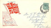 "JAMAICA WWII George VI 1/2 D PROPAGANDA-cover ""HALF-WAY-TREE JAMAICA"" to England"
