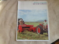 1965 Massey Ferguson MF9 MF12 Baler Tractor Sales Brochure Detroit Michigan
