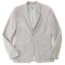NWT ORIGINAL PENGUIN Men's Silver Gray Cotton Z Twill Blazer Sport Jacket XL 42R