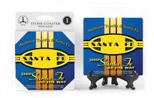 SANTA FE - BLUE RR - Logo Man Cave / Bar Accesories / Ceramic Stone Coasters