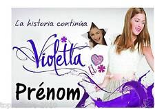 Affiche  Pancarte de porte plastifié Violetta 04 + prénom ou texte