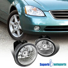 For 02-04 Nissan Altima 03-05 Murano Fog Lights Bumper Lamps Clear+Switch+Bulbs
