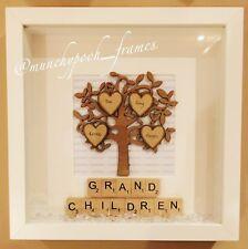 Personalised Handmade Family Tree Frame Grandchildren Grandparents Grandkids