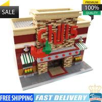 Chili's Restaurant Building Blocks Bricks Toys 2243 PCS Good Quality MOC-0203