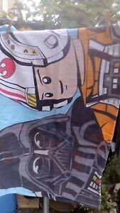 Single bed Duvet LEGO Star Wars + 1 Pillar Case Luke Skywalker C3PO Darth Vader