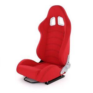 Sportsitz Schalensitz Halbschalensitz Tenzo-R Stoff Rot mit Laufschienen