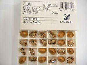 8 swarovski oval stones,18x13mm light colorado topaz #4100