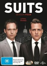 Suits : The Complete Season 4 (DVD) 4 Disc Set  Brand New & Sealed