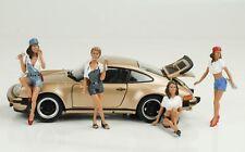 Meccanico Mechanic Sexy Ragazze Set Figura Figurines 1:24 American Diorama No