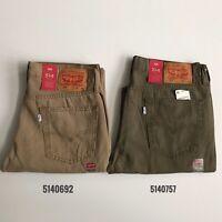NWT Levi's Men's 514 Regular Fit Straight Leg Jeans Pants 5140692 5140757 Khaki
